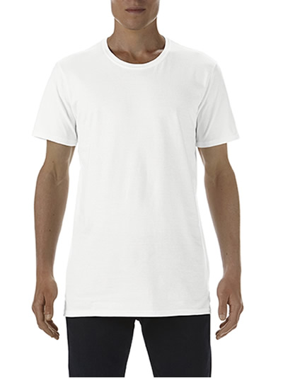 5624 Adult Long & Lean Tee - White