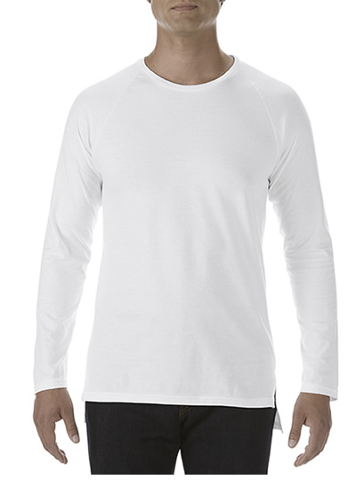 5628 Long & Lean L/S Raglan Tee - White