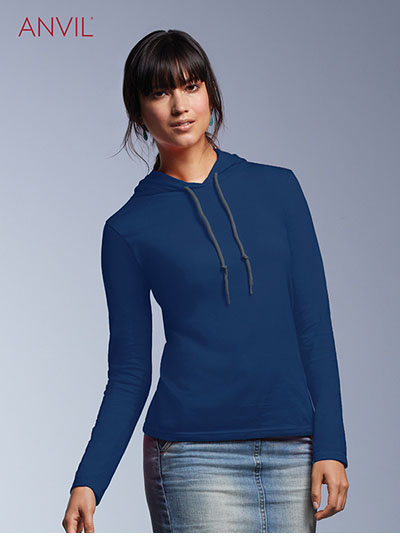 887L Women's Lightweight L/S Hooded Tee